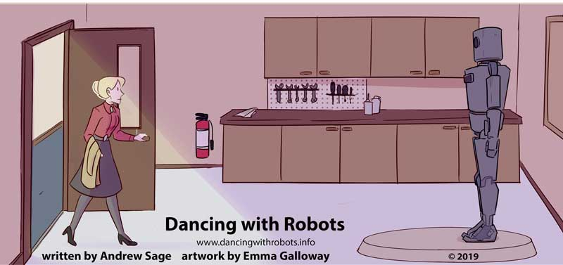 Sarah discovers DART for the first time in Dancing with Robots